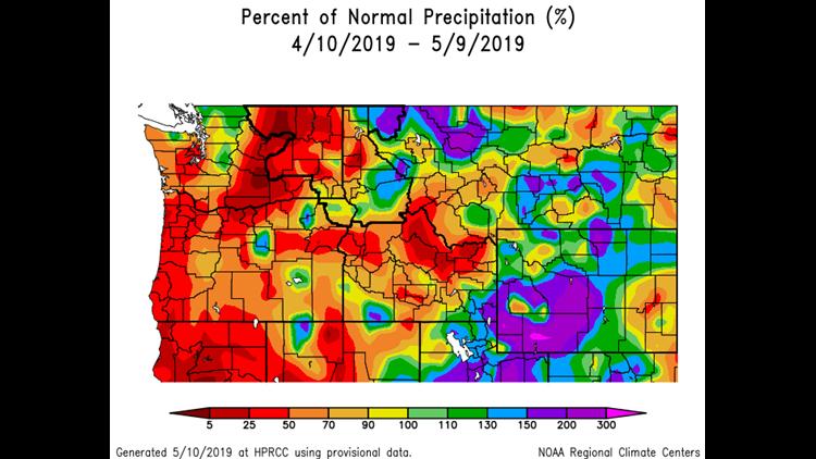 Precipitation Delta April-May