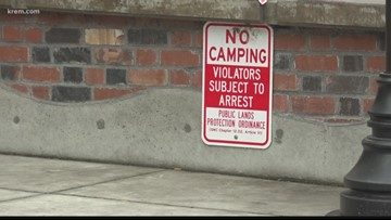 Spokane's sit-and-lie ordinance still enforced a year after Camp Hope