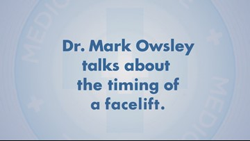 Dr Mark Owsley talks about the timing of a facelift.