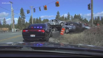 'I'm still somewhat in shock': Video shows car narrowly missing Idaho trooper