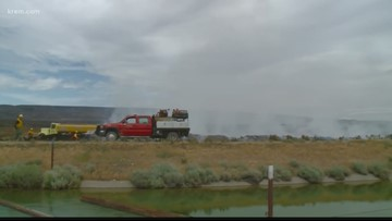 'Powerline Fire' in Grant Co. grows to 7,800 acres, 50 percent contained