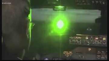 Police warn pointing laser devices at planes is a federal crime