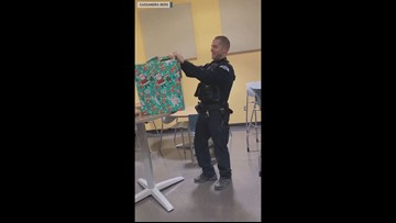 Pasco police officer receives heartwarming tribute to late K-9