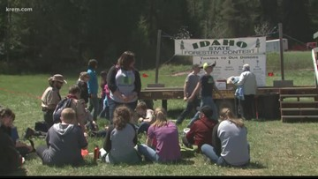 Students take part in Idaho State Forestry Contest