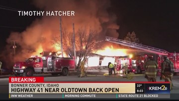 Oldtown fire in Bonner County (3-20-18)