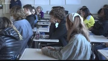 Gonzaga Prep students watch Steve Gleason receive Congressional honor