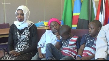 Refugee family from South Sudan reunites at Spokane airport