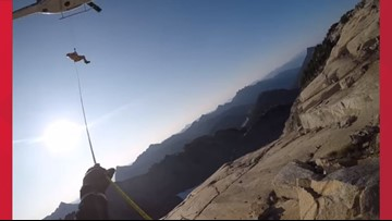 Spokane air support crew rescues 3 stranded hikers in the Cascade Mountains