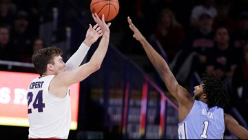 No. 2 Gonzaga leaves North Carolina blue after 94-81 victory