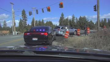Dramatic video: Idaho trooper struck during crash