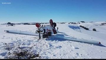 Plane crashes, flips in field outside Pullman