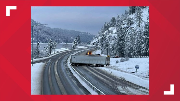 I-90 clear after two semis blocked multiple lanes near Coeur d'Alene