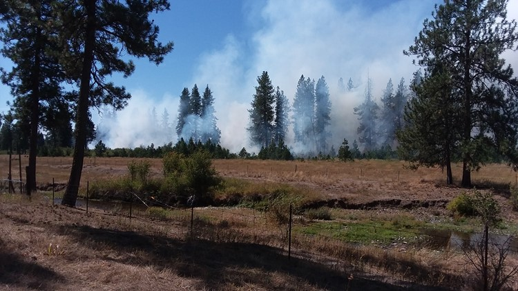 Reservation Field Fire currently burning 26 acres in Stevens Co.