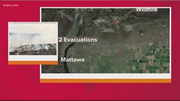 5,000-acre 'Powerline Fire' burning near Mattawa