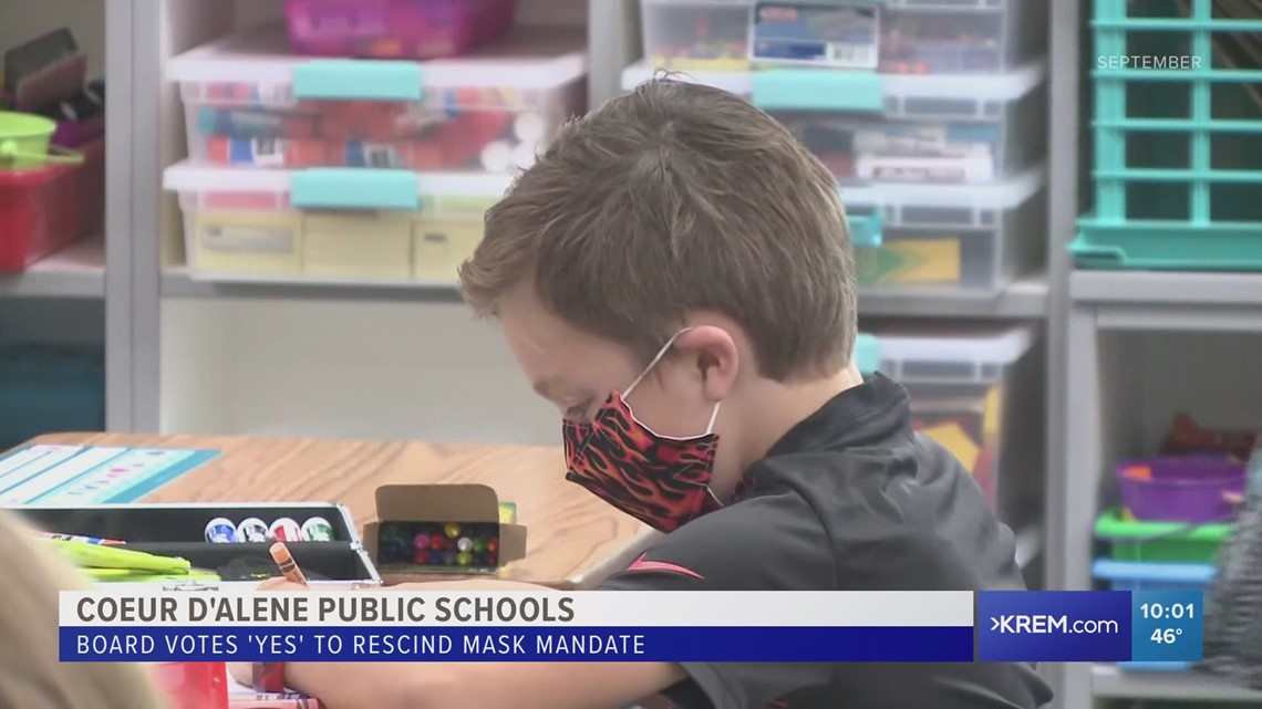 Coeur d'Alene School Board makes mask wearing 'strongly recommended' in schools