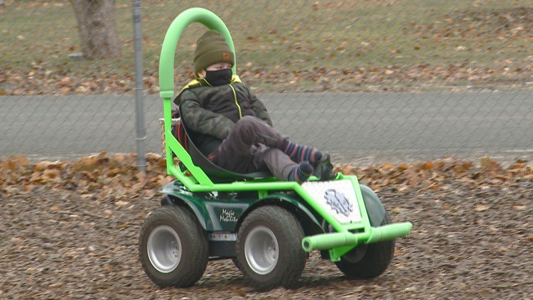 Bonners Ferry High School robotics team makes custom mobility device for kindergartner
