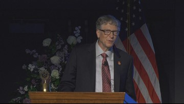 Bill Gates gives update on polio eradication at Spokane Rotary Conference