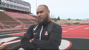 EWU football holds Pro Day