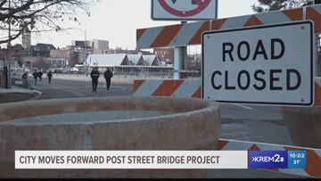 When will the Post Street Bridge reopen?