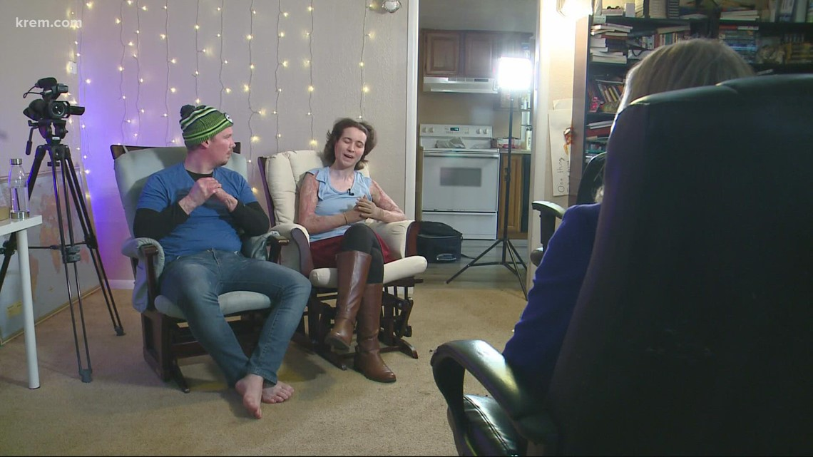 Couple burned in Cold Springs Fire sits down with KREM 2's Whitney Ward