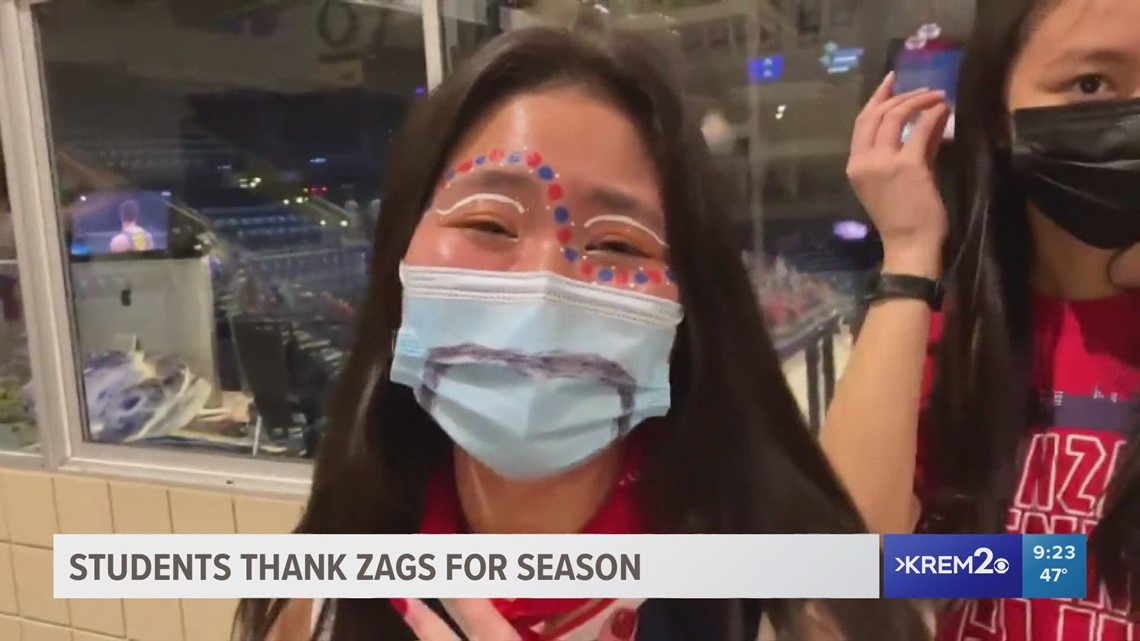 Gonzaga students thankful for team after historic run comes to an end in national title game