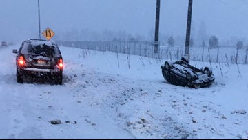 Slick roads lead to crashes, slide-offs during Inland Northwest snowstorm