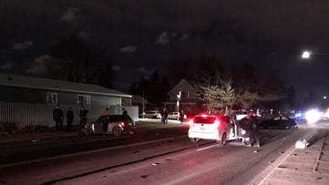 One arrested for DUI following N. Spokane crash