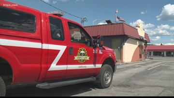 CDA Fire calls in ladder truck to fix upside-down American flag