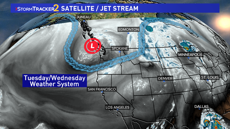 Satellite and Jet Stream