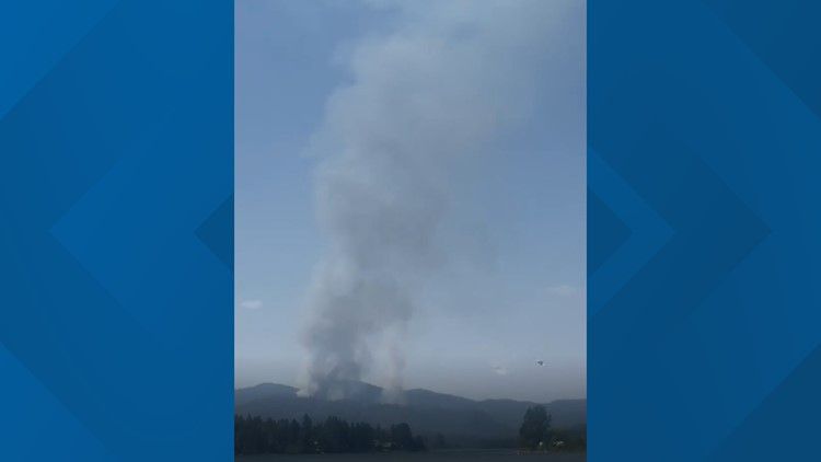 Pioneer Fire burning near Priest River prompts evacuations, road closures