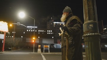 'They're friends of mine': Spokane veteran spends mornings with homeless residents