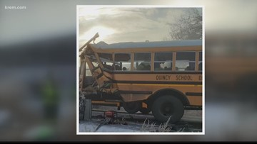 All passengers taken to hospital after Quincy school bus and tour bus collide