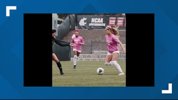 WSU Soccer player fakes out opponent