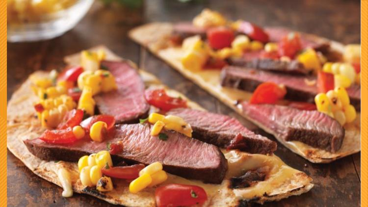 Tom's BBQ Forecast: Grilled Tequila Steak Pizza