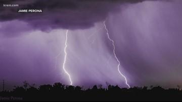 Wild weather: Storms bring heavy rain, lightning to Spokane area
