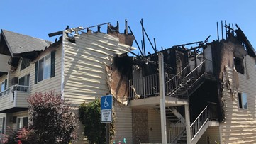 'Everyone was in shock': North Spokane apartment fire injures seven, forces residents to jump from building
