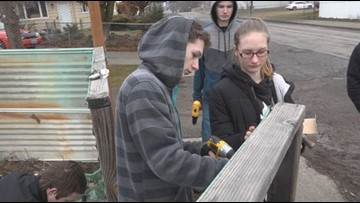 ROTC kids restore Hillyard woman's fence, faith in neighborhood