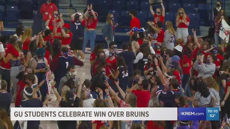 Gonzaga fans celebrate after historic win