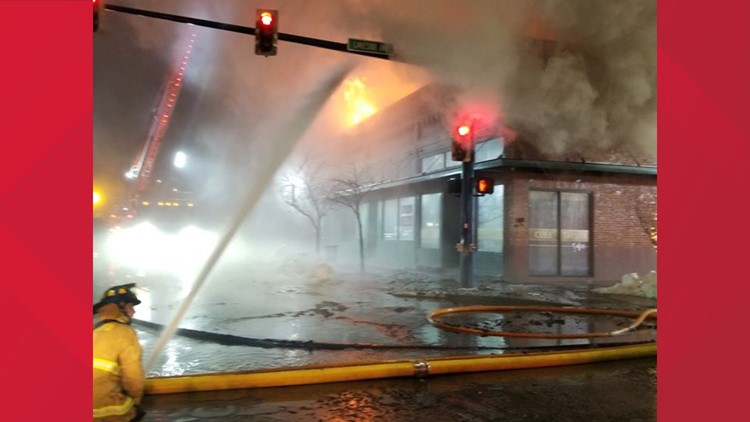 At least 5 businesses destroyed by downtown Coeur d'Alene fire
