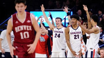 Gonzaga rises one spot to No. 4 on AP college basketball poll