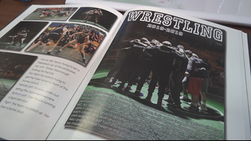 Female wrestler's name, photo left off Lakeside High yearbook page