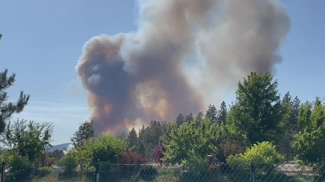 RAW Video: Wildland fire burning in Athol