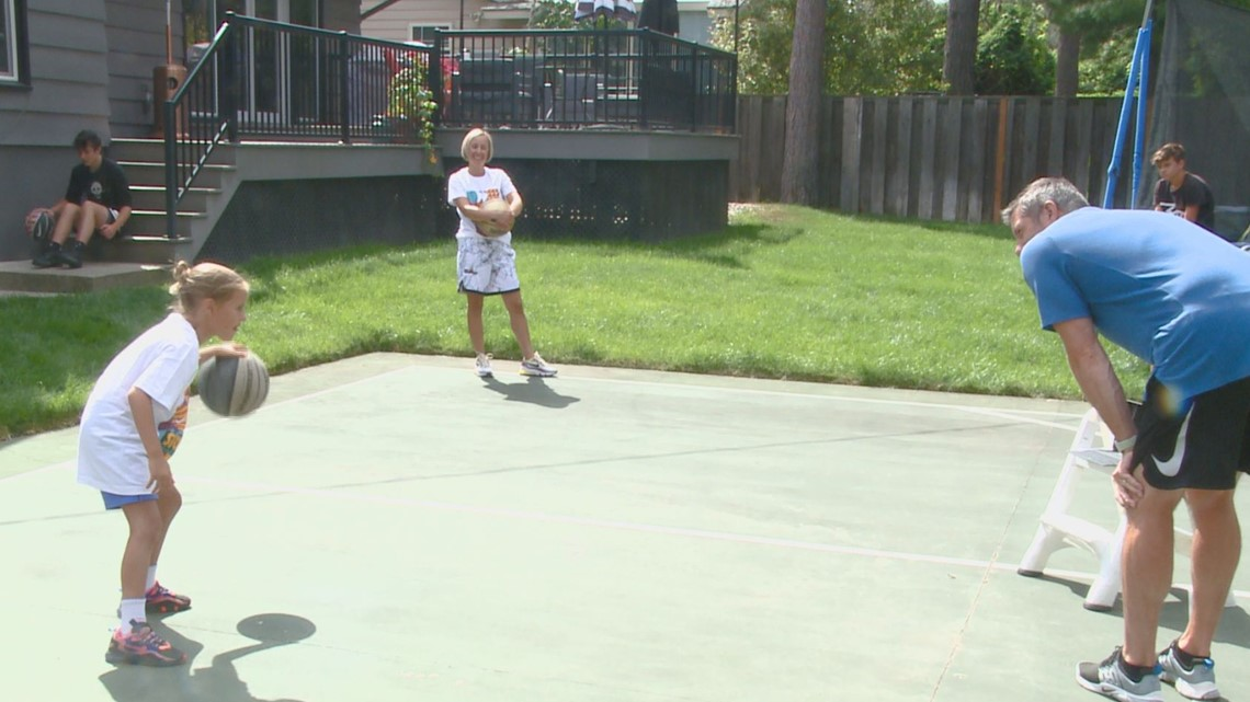 'I just wanted to beat my sister and my brother': Santangelo family competes in virtual Hoopfest
