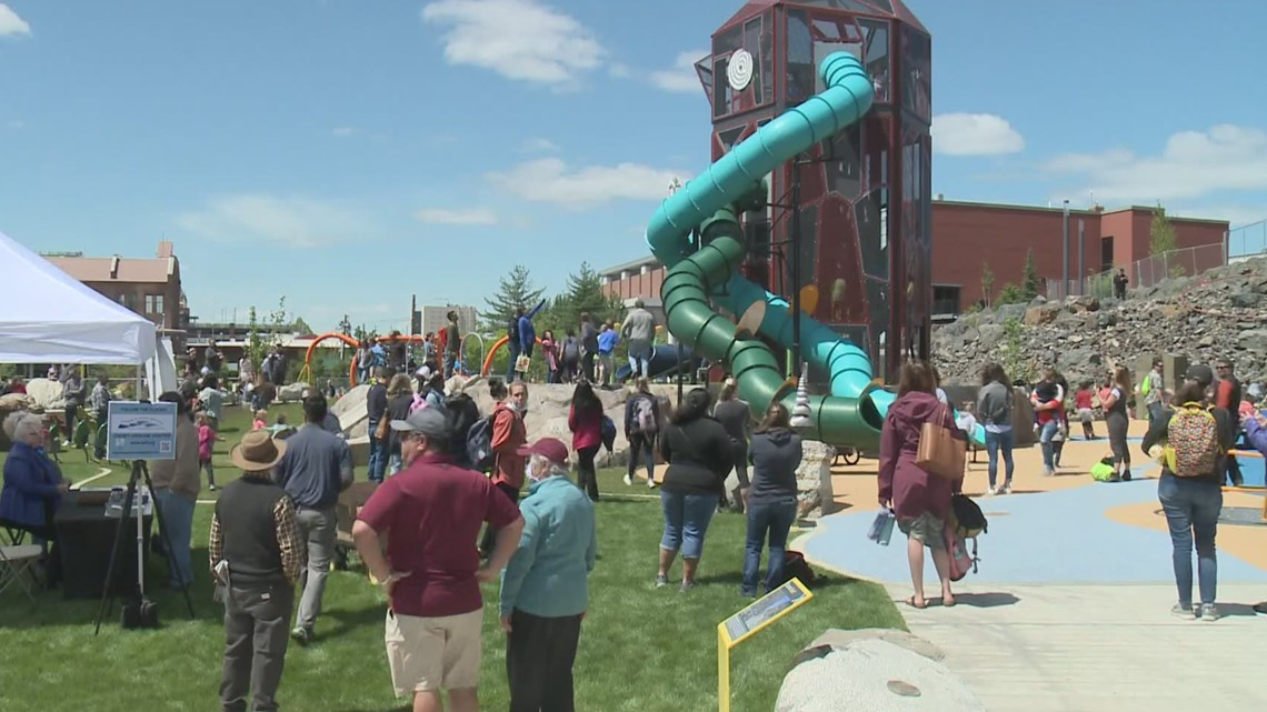 Riverfront Park's North Bank, part of $75M downtown Spokane revitalization project, has grand opening Friday