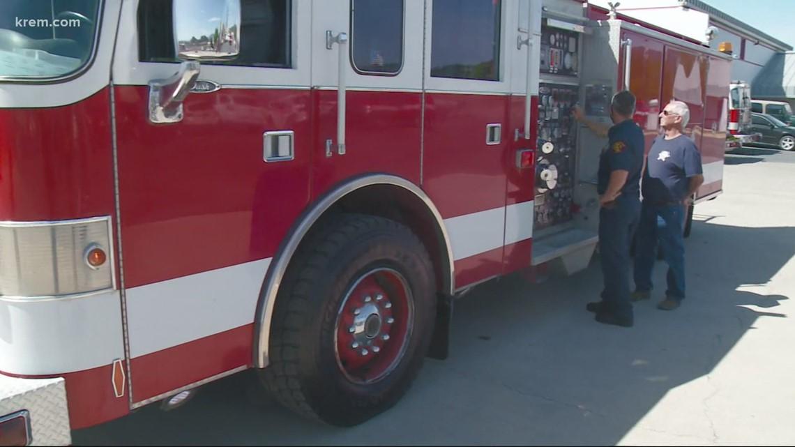Spokane Valley Fire Department donated a firetruck to Malden Fire Department