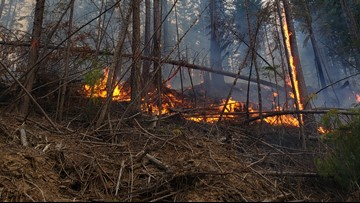 North Mill Creek Fire northeast of Colville 100% contained