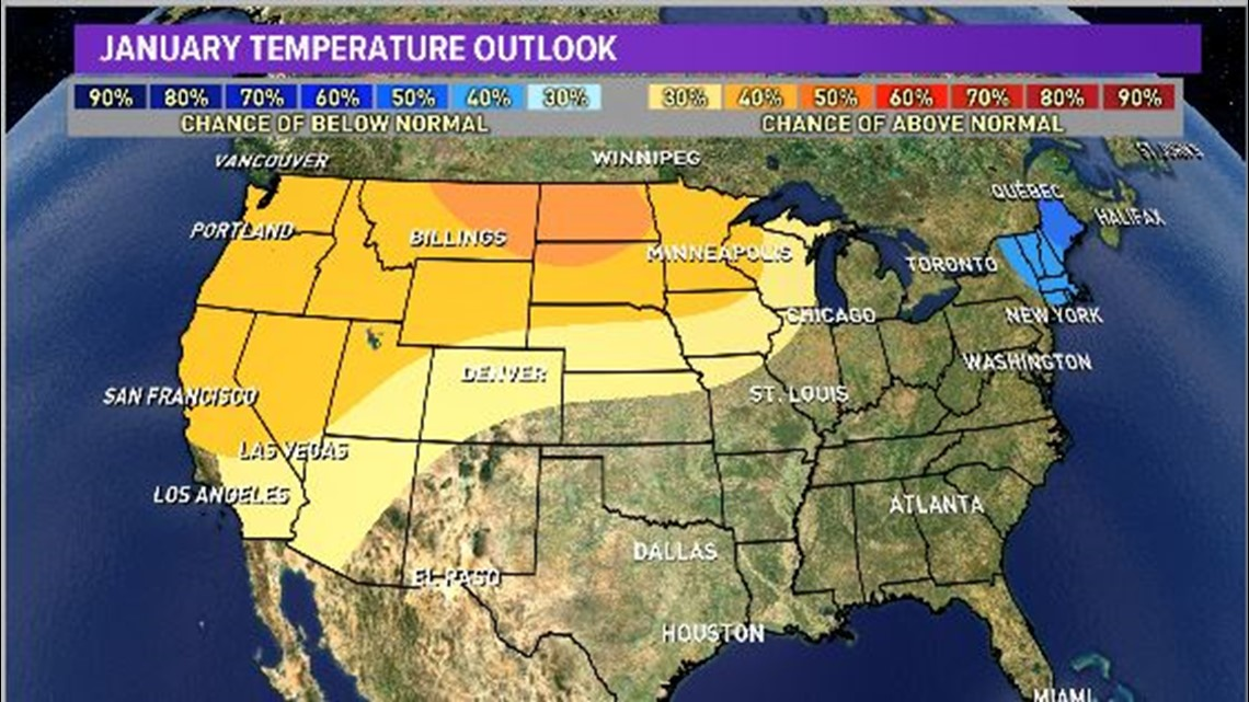 below average snowfall expected in january for spokane