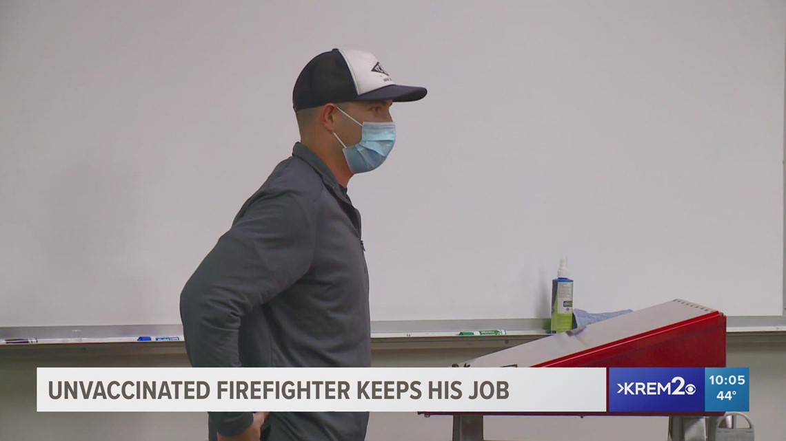 Unvaccinated Spokane County firefighter gets to keep his job with accommodations