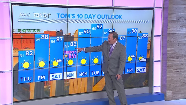 Temperatures to reach the 90s this weekend