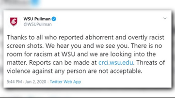 WSU investigating after racist screenshots from student posted on Twitter